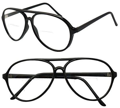 edf9439a9b Super Retro Round Vintage Aviator Rx Bi Focal Reading Readers Eye Glasses  Strength 100 150 175