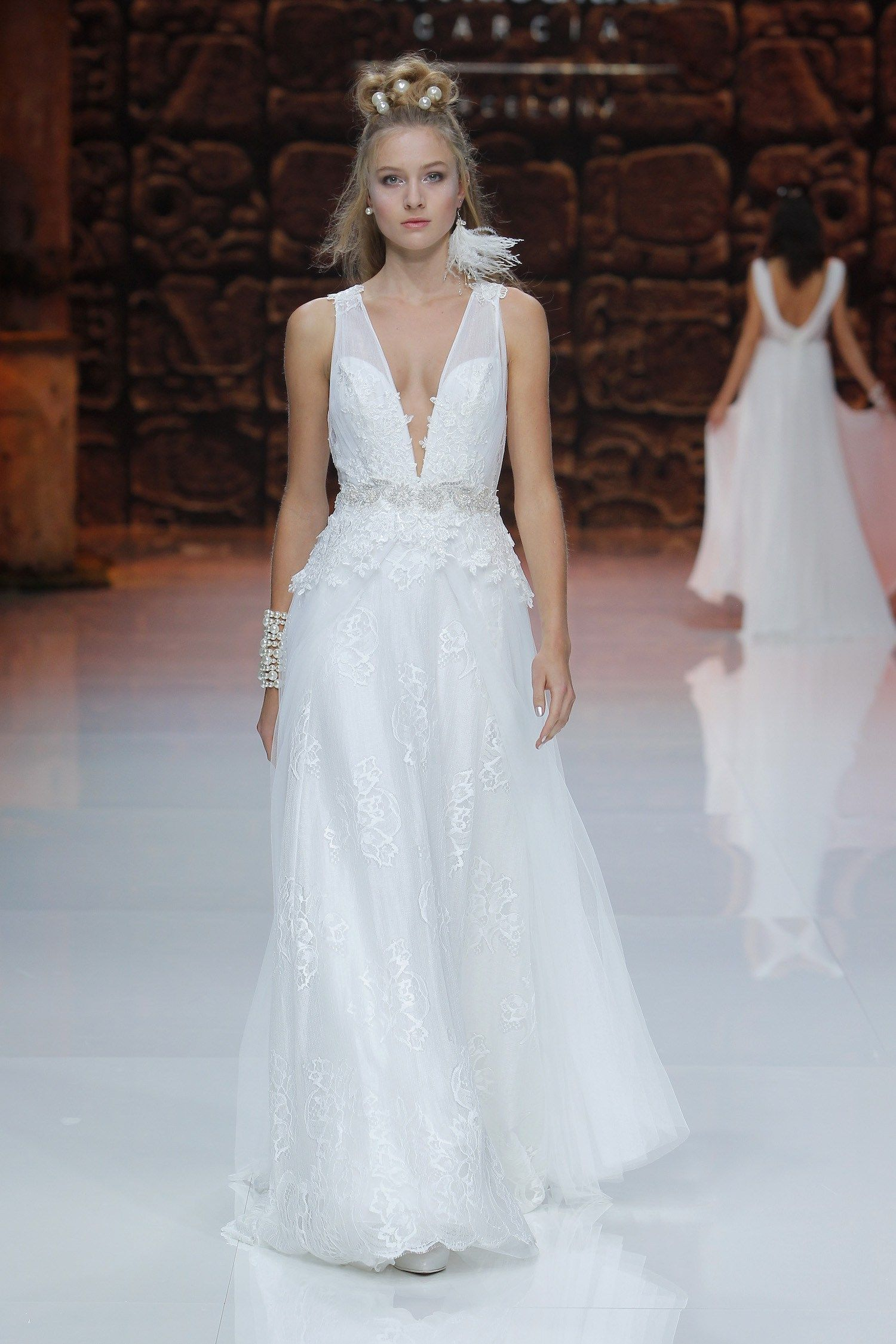 Perfect Vestidos Novia Franc Sarabia Images - All Wedding Dresses ...