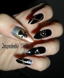 "Improbable Nails: ""Ancient Goddess Tanit"" nails"