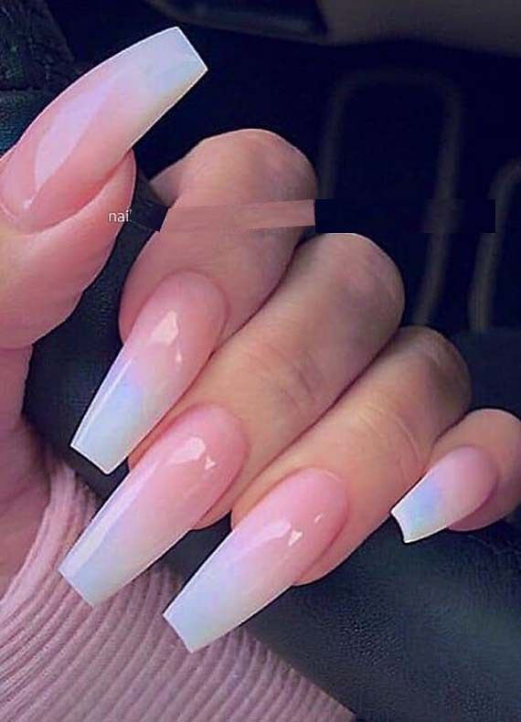 French Ombre On Long Coffin Nails Designs You Must Try Nowadays Stylesmod Coffin Nails Ombre Coffin Nails Long Ombre Acrylic Nails