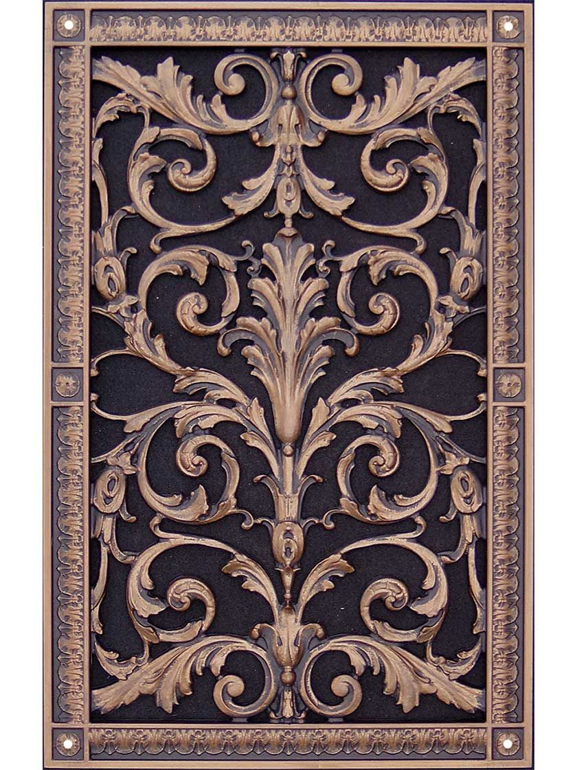 Louis XIV Resin ReturnAir Grille in OilRubbed Bronze