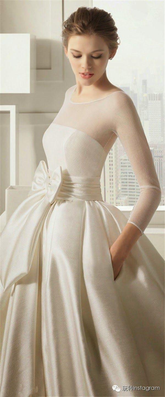 Sheer wedding dress  stunning wedding gown  My dream wedding  Pinterest  Elegant