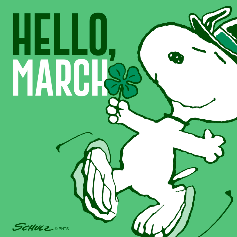Hello March Snoopy Images #HelloMarchImages #MarchImages #snoopy #beach  #MarchMonthQuotes | Snoopy, Snoopy funny, Hello march