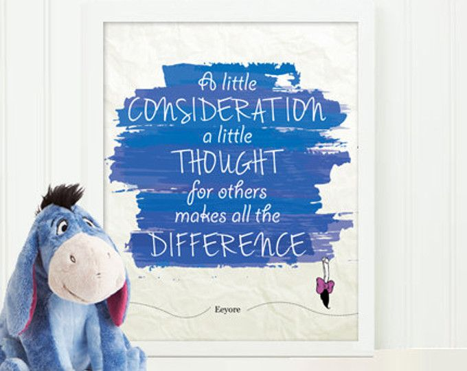 Eeyore Winnie The Pooh Quote Poster, A Little