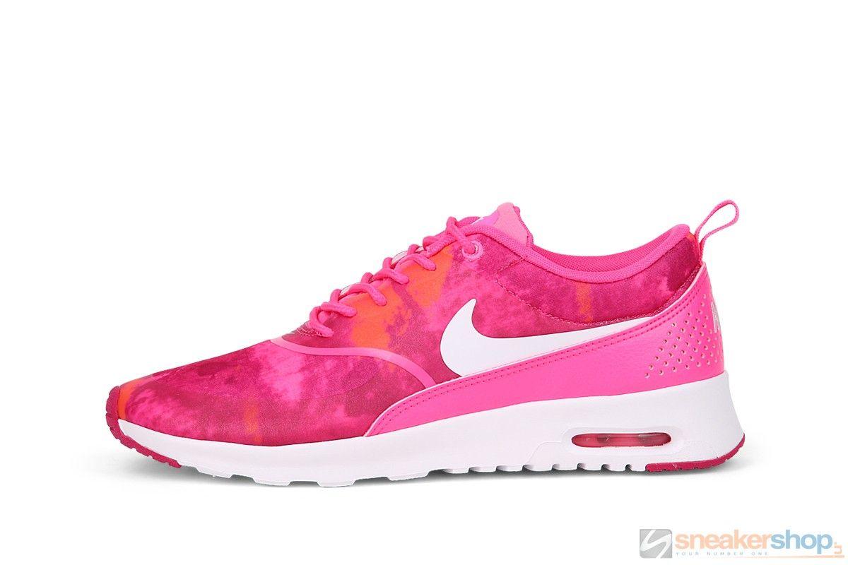 Women's Nike Air Max Thea Print Running Shoes Pink PowWhite