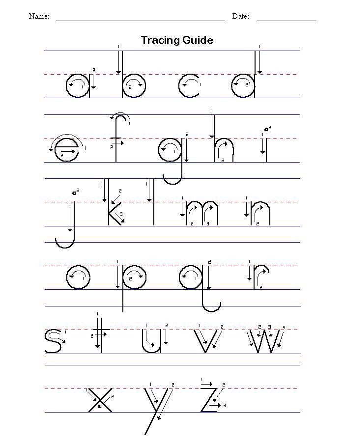 Tracing Template Alphabet Writing Alphabet Tracing Abc Tracing
