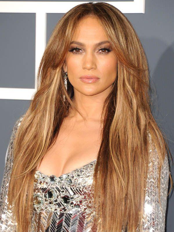 Jennifer Lopez Golden Highlights With Light Honey Brown Hair Color De Pelo Colores De Pelo Color De Ojos