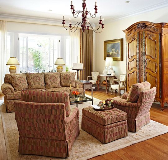 16 Stunning French Style Living Room Ideas: Smart Downsize: Comfortable And Beautiful