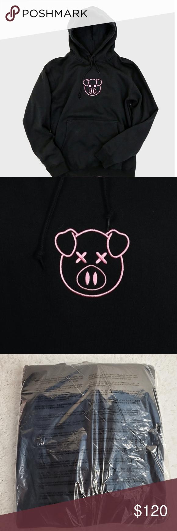 Authentic Shane Dawson Embroidered Pig Logo Hoodie Hoodies Cotton Pullover Sweatshirts Hoodie