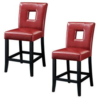 u0027Lillianu0027 Bi-cast Red Leatherette Counter Stools (Set of 2) (Red)  sc 1 st  Pinterest : red leather stools - islam-shia.org