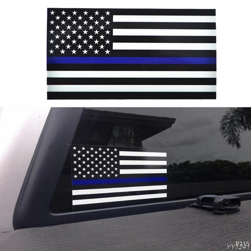 Police Officer Thin Blue Line American Flag Car Stickers Car Stickers Funny Car Decals Vinyl American Flag Decal