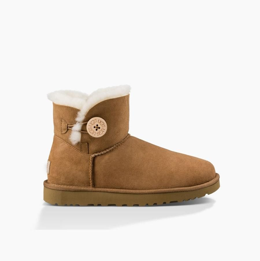 ugg women s mini bailey button ii chestnut baileys minis and sole rh pinterest com