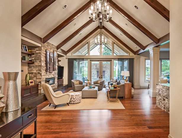 Windows 101 Energy Efficiency Window Options And Replacement Costs Kudzu Com Vaulted Ceiling Living Room Rustic Living Room Design Vaulted Living Rooms