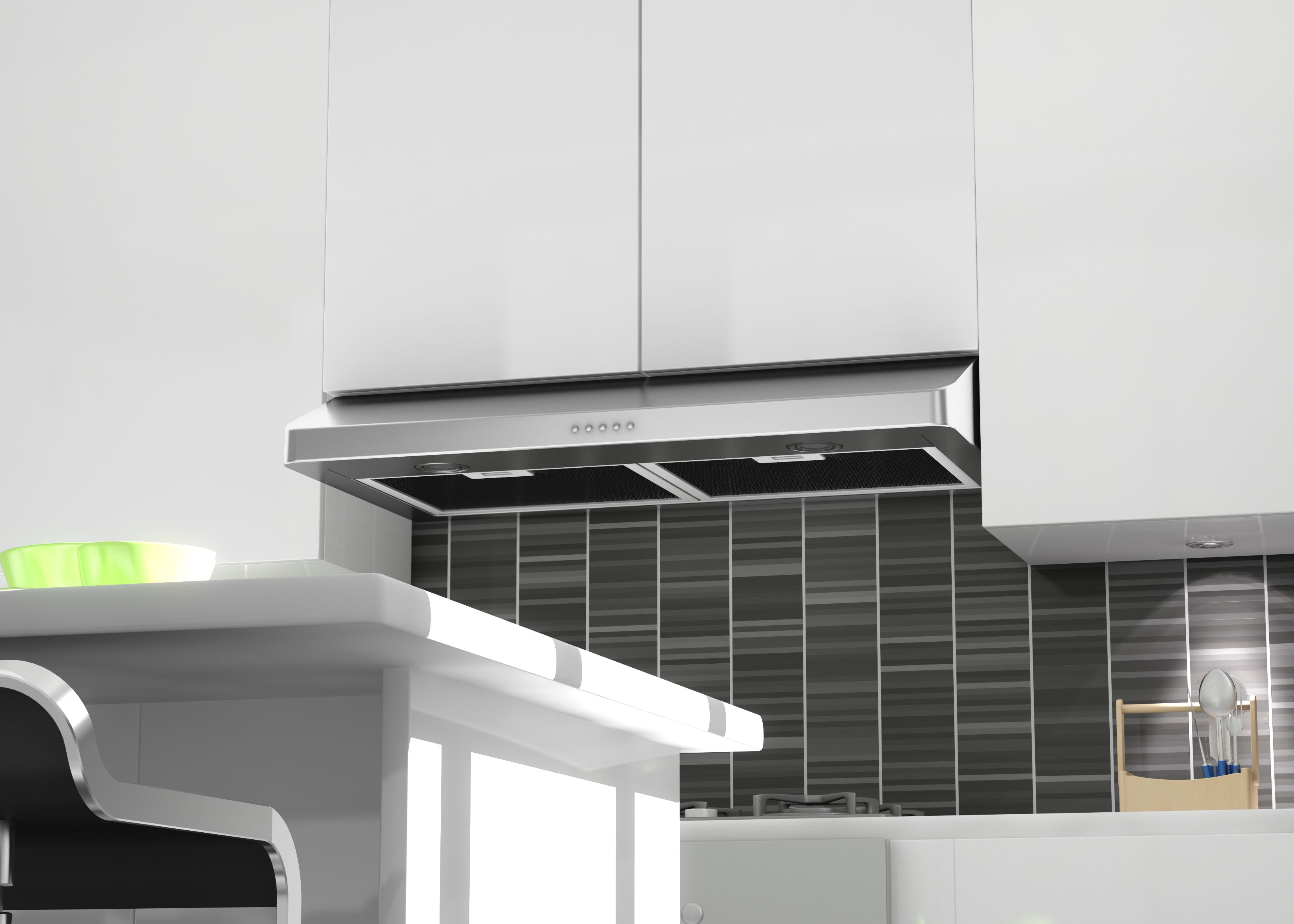 Zline 30 In 530 Cfm Under Cabinet Range Hood In Stainless Steel Hardwired Power 617 30 Has A Modern Under Cabinet Range Hoods Range Hood Modern Range Hood