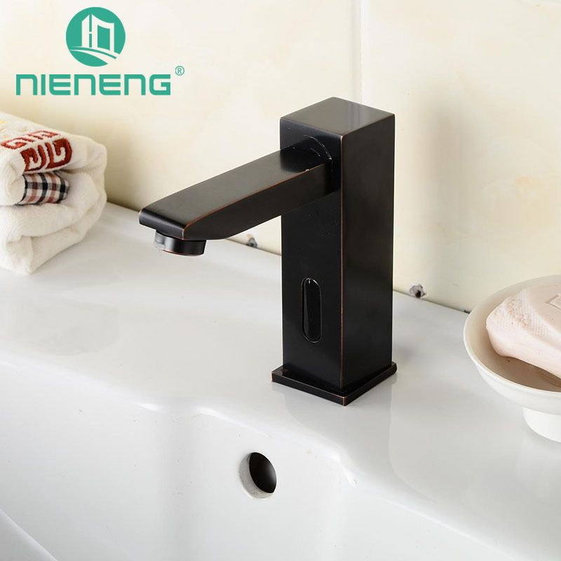 Nieneng Sensor Faucets Black Bathroom Sink Faucet Cold Water Basin