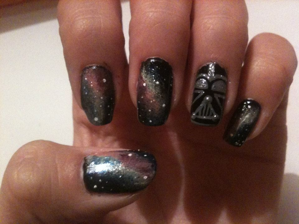 Star Wars Nail Art / Darth Vader Accent Nail | Nailed It ...