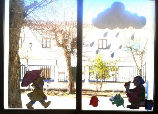 Fensterbilder Kinderzimmer ~ Herbst landschaft ideen für fensterbilder herbst regenwolke