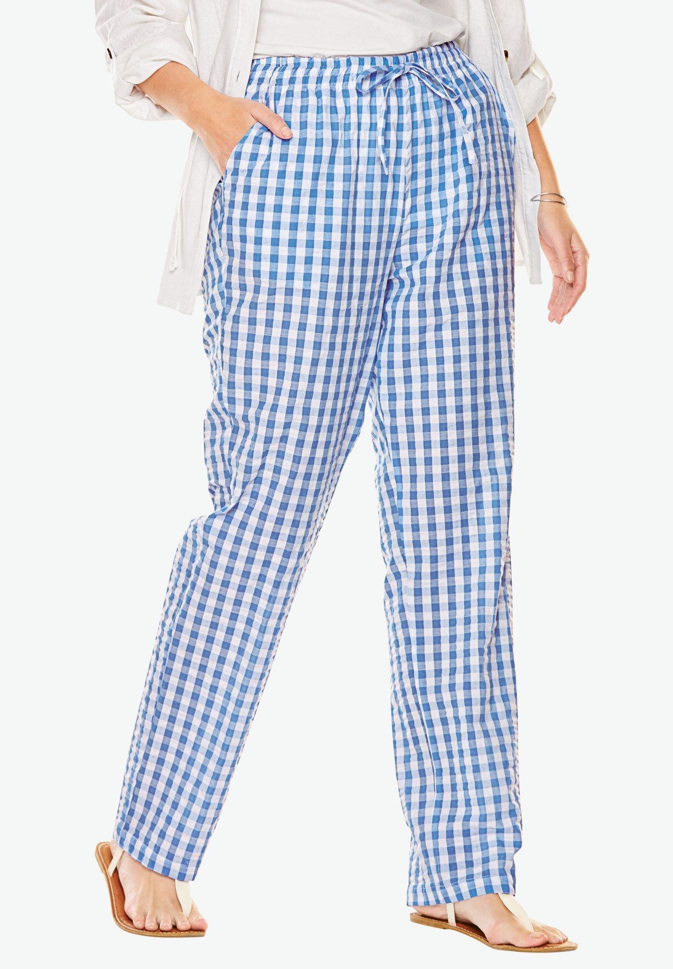 Seersucker Pants Women S Plus Size Clothing Seersucker Pants