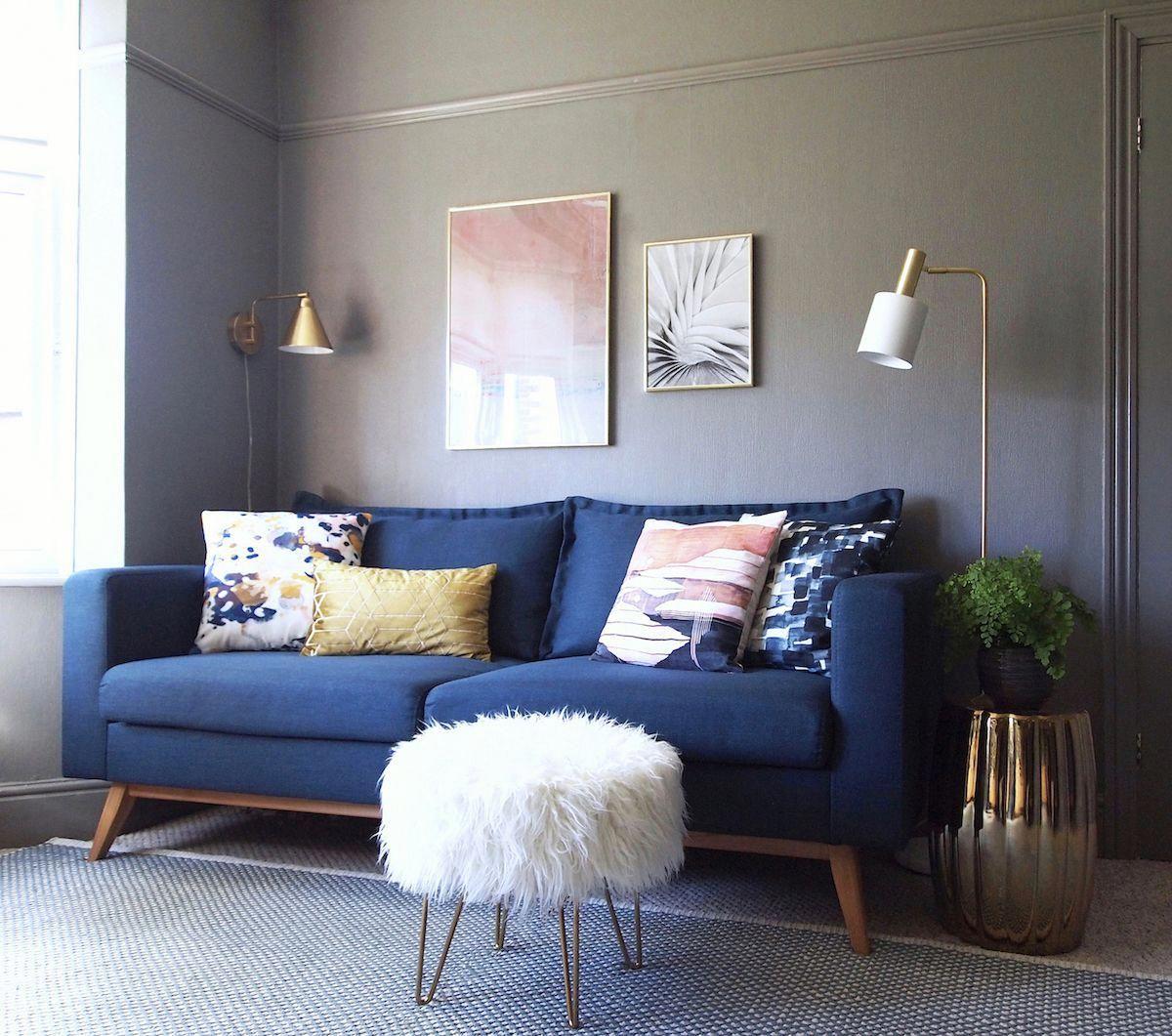 Home Decorations For Halloween Homedecorationmaterial Blue Living Room Decor Blue Sofas Living Room Blue Sofa Living