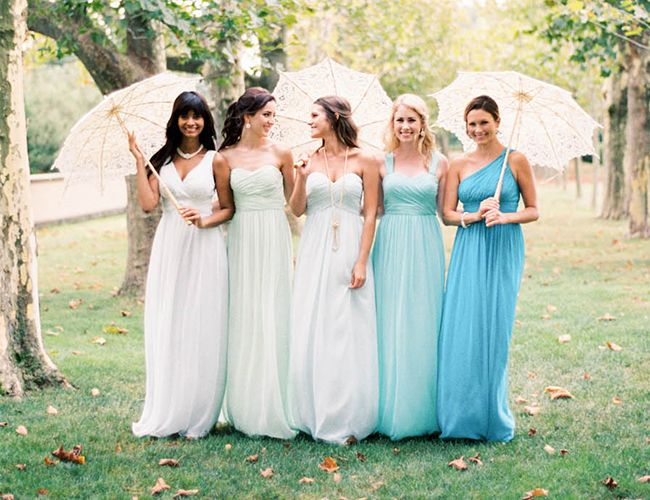 Perfect Palette Pastel Bridesmaid Dresses Milly