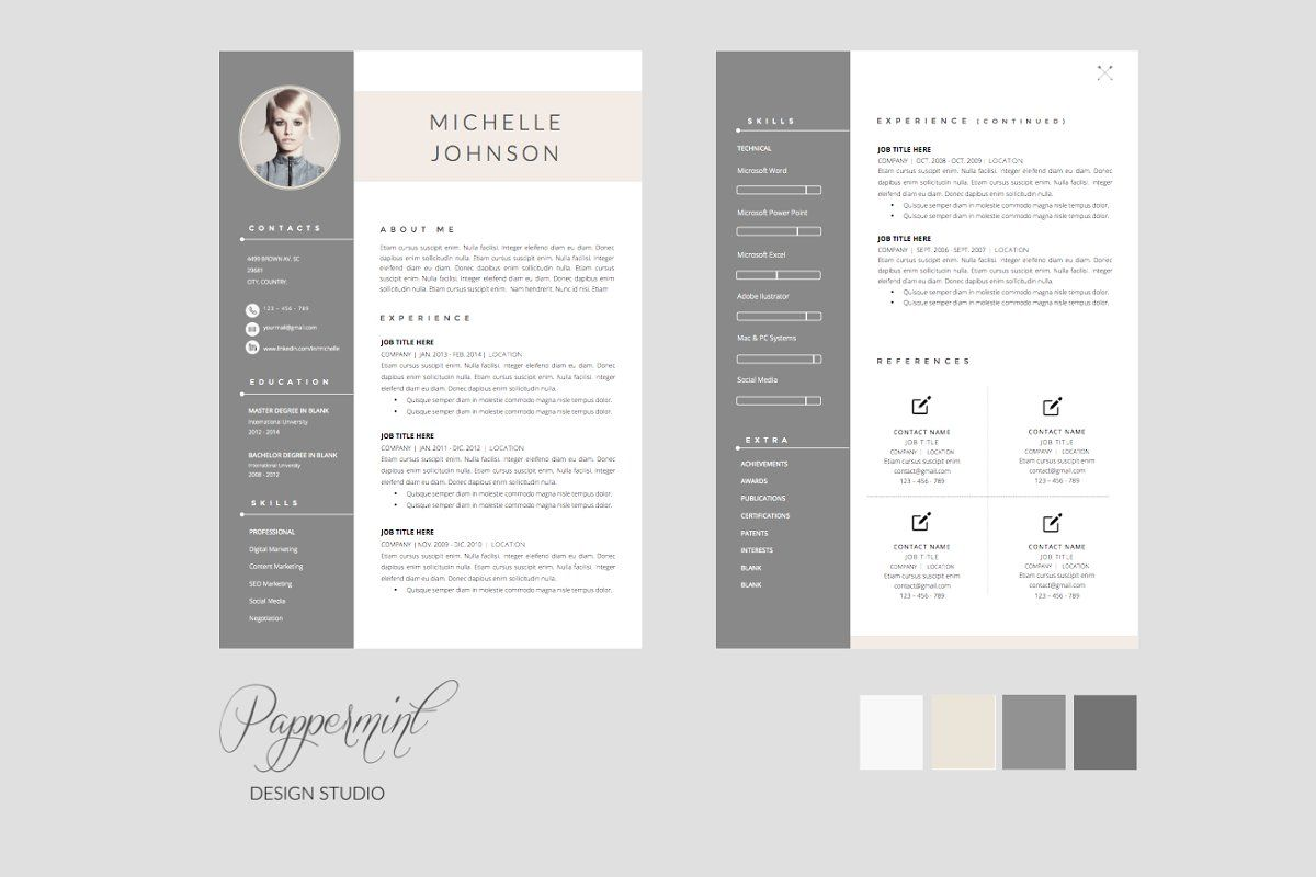 Resume Template Cover Letter Word In 2020 Resume Template Word Cv Template Free Resume Template Free