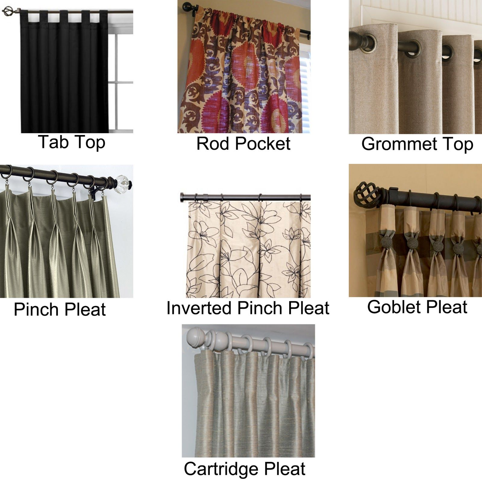 Various Ways To Hang Curtains And One More Tidbit On