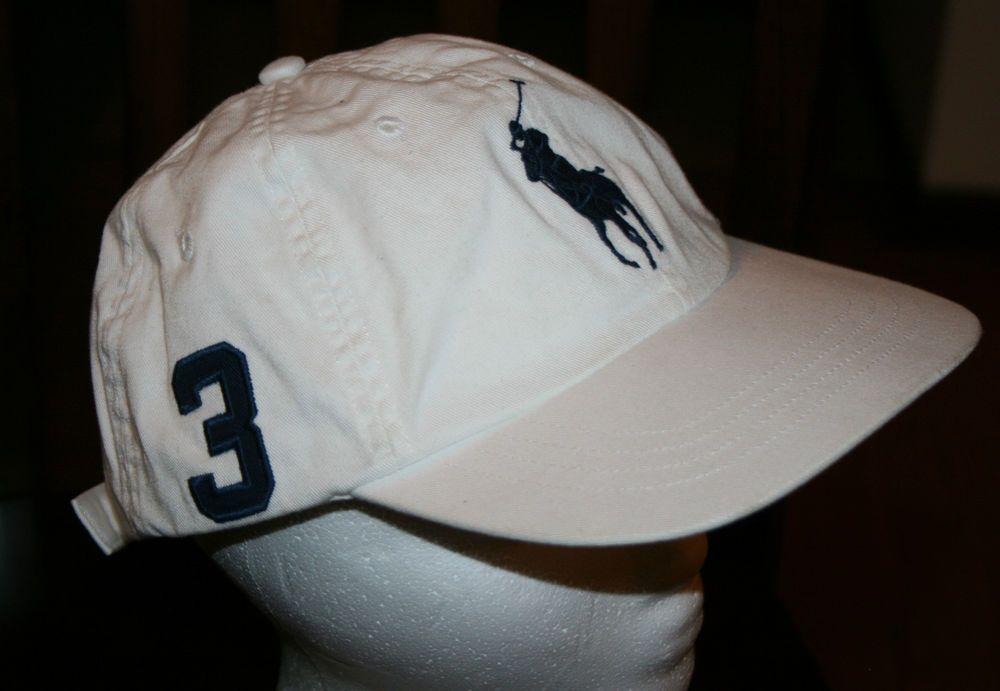 Polo Ralph Lauren 1967 MCMLXVII  3 Big Pony Cap white baseball Hat-Men s  size  PoloRalphLauren  BaseballCap fe529756a3b2