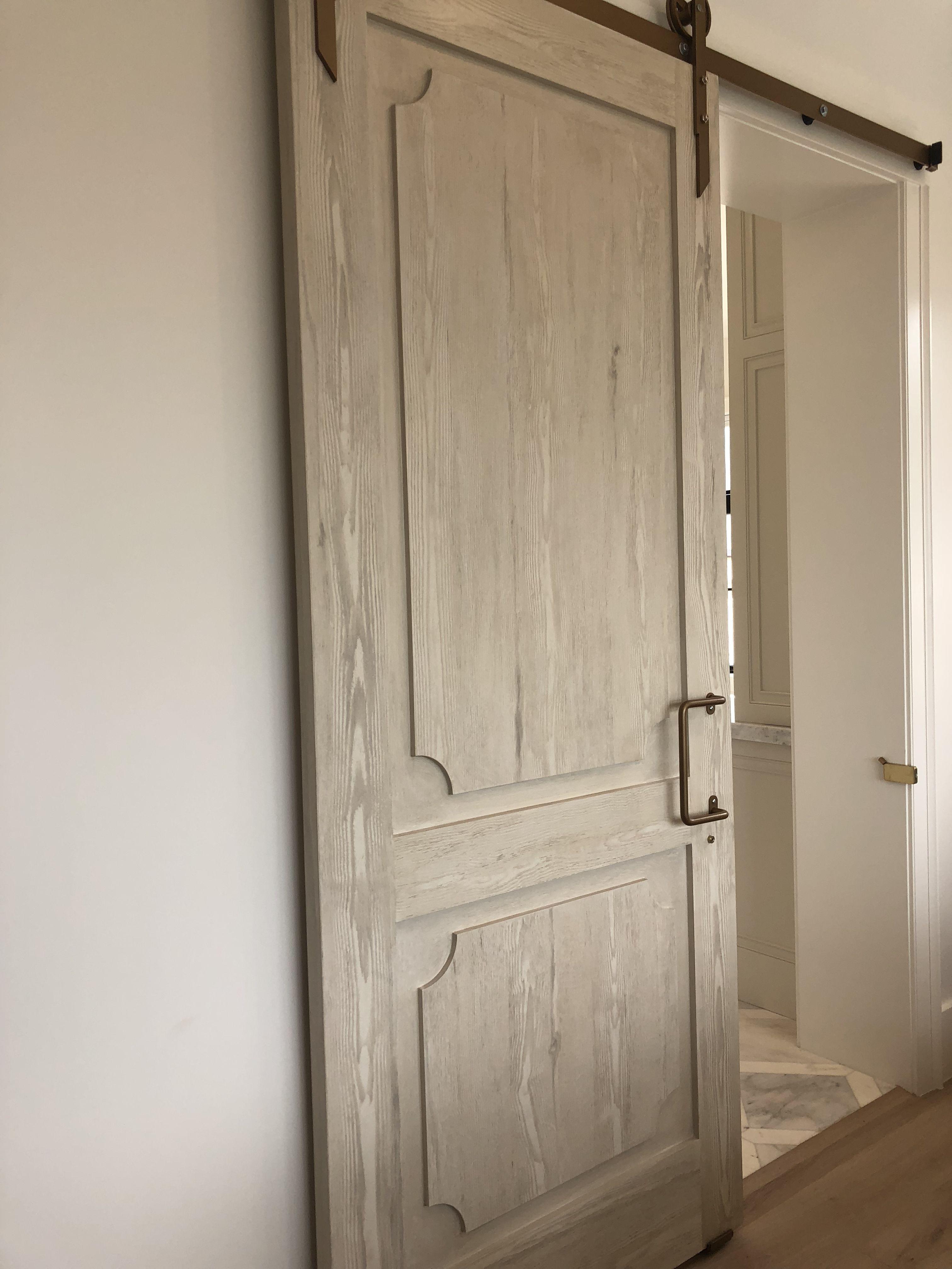 Barn door for master bedroom Tall storage, Barn