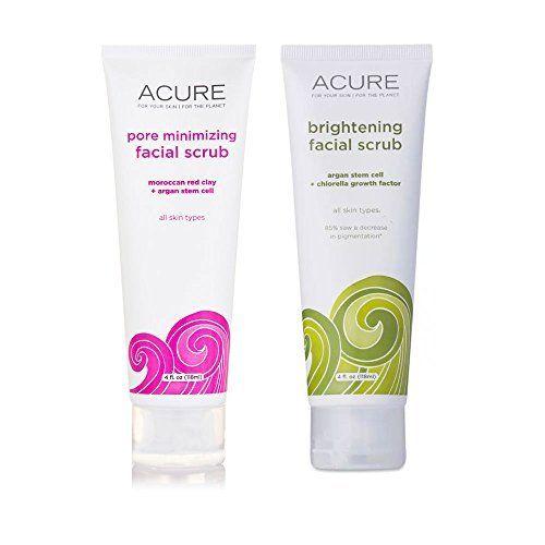 Acure Pore Minimizing Brightening Facial Scrub Exfoliator