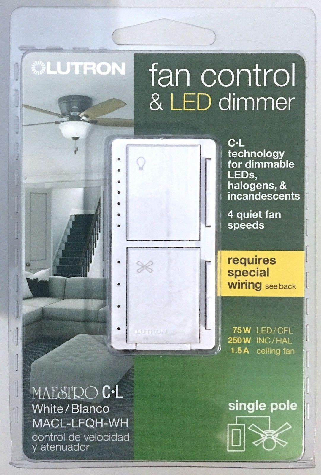 Dimmers 41984 Lutron Maestro Fan