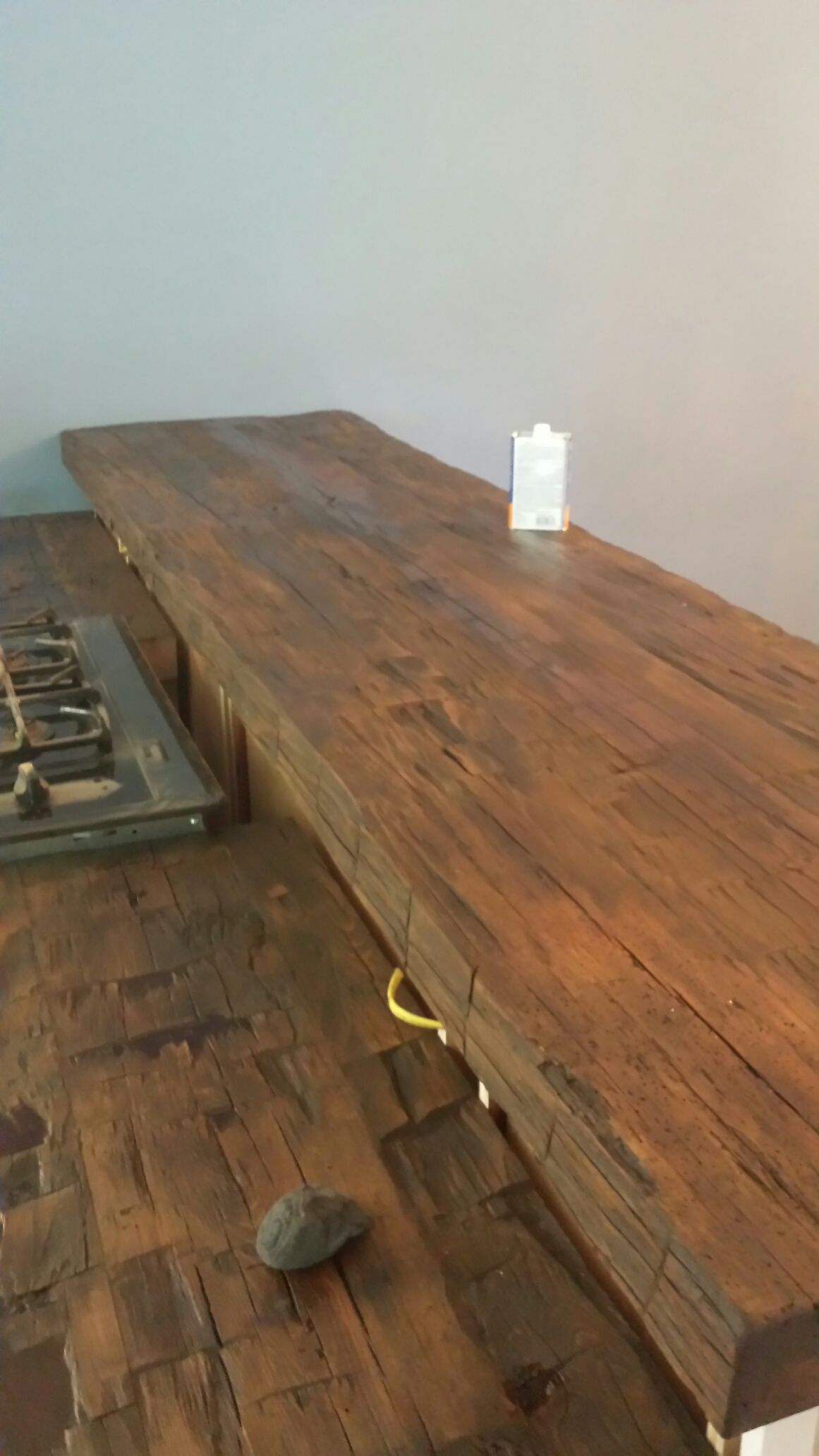 This Is A Hand Hewn Beam Countertop Wood Countertops