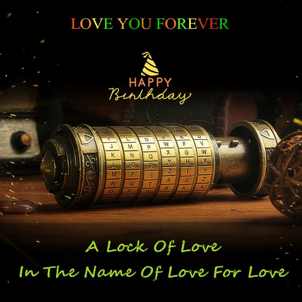 Da Vinci Code Mini Cryptex Valentine/'s Day Interesting Romantic Birthday Gifts