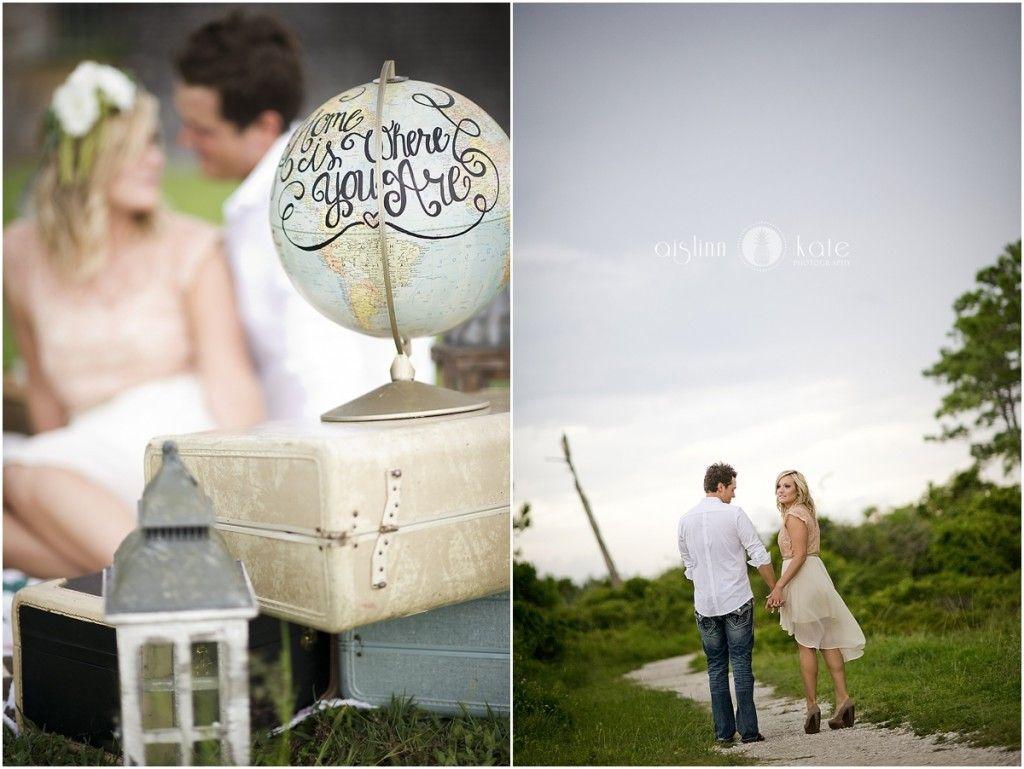 Engagement portraits | Head wreaths | Lanterns | Travel themed ...