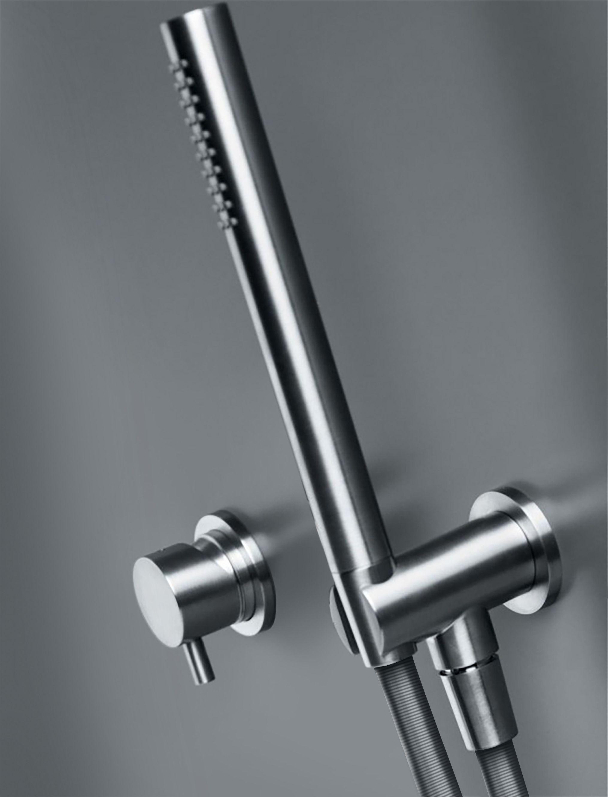 INOX wall-mount single-lever shower or tub mixer Sleek, wall-mount ...