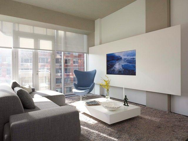 Idées aménagement salon – où disposer l\'écran TV | TVs, Wands and ...