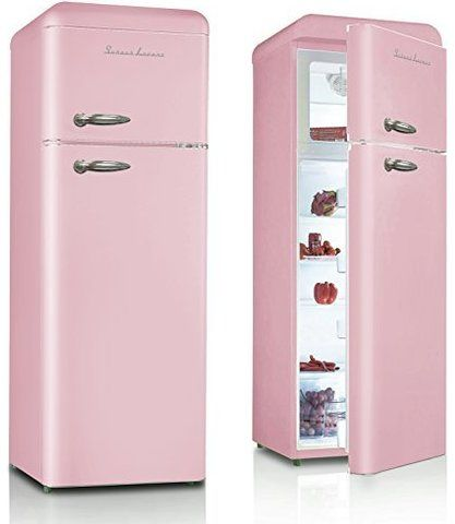 retro k hlschrank in rosa schaub lorenz sl 210 sp coole k hlschr nke cool fridge. Black Bedroom Furniture Sets. Home Design Ideas