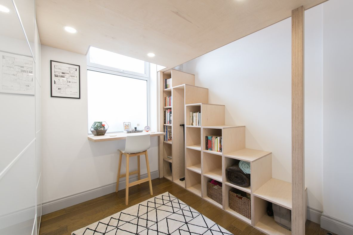Best Relaxed Birch Ply Mezzanine Loft With Stairs And Storage 400 x 300