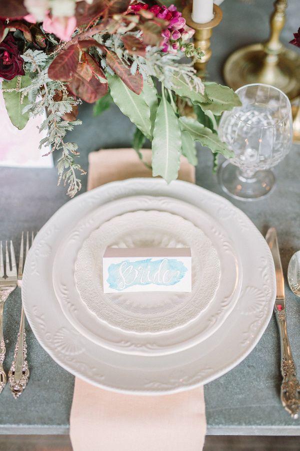 Romantic Bohemian Wedding Ideas | Place setting, Romantic and Wedding