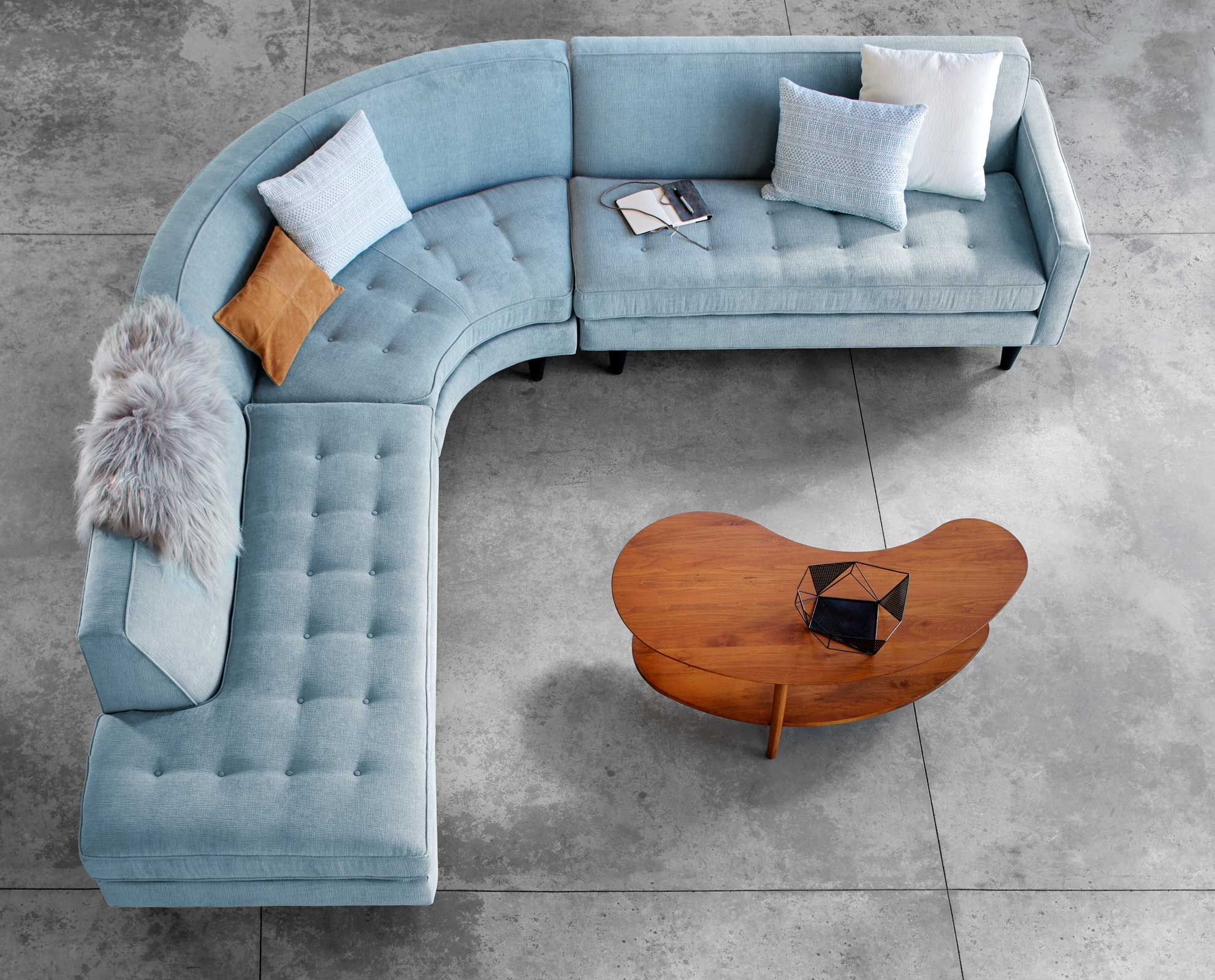 Seats And Sofa Pancho Bank Scandinavian Designs Ingrid Sectional 多位沙发 In 2019 Curved