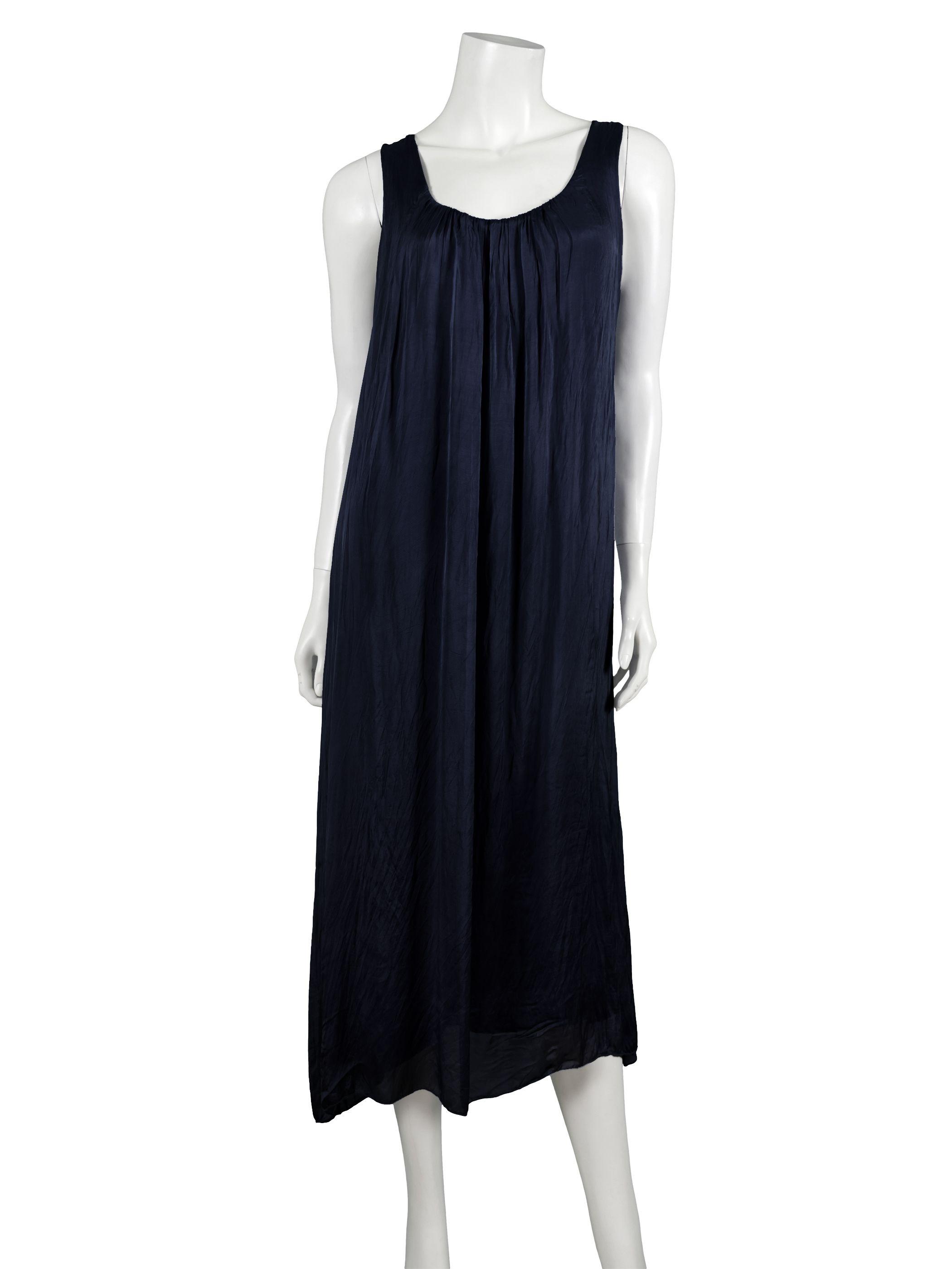 Kleid dunkelblau seide