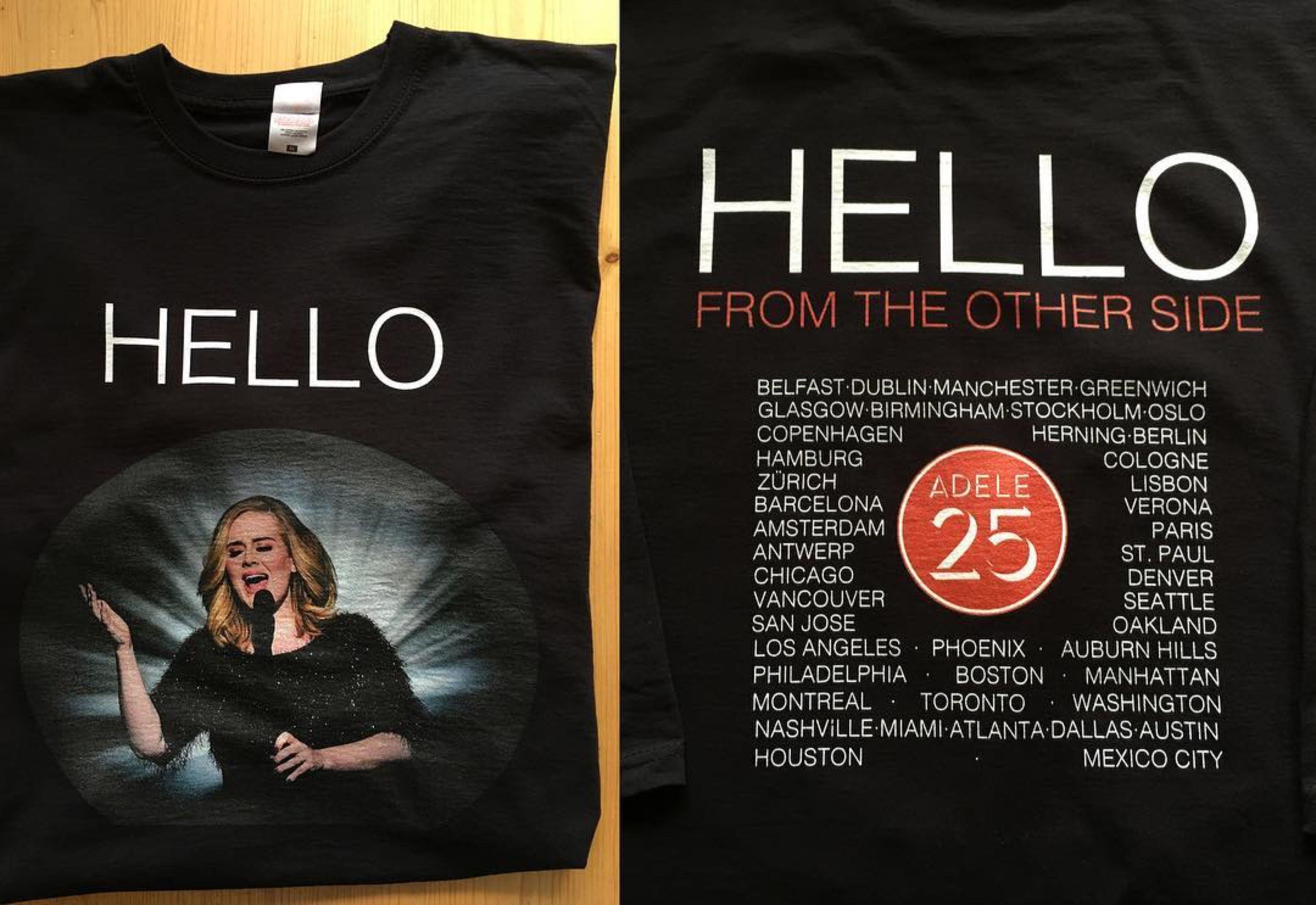 Design your own t shirt belfast -  Adele Merch Belfast Ssearena