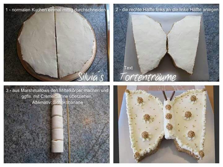 Silvia's Tortenträume: Schmetterling Kuchen Sahnetorte Cake einfach Butterfly