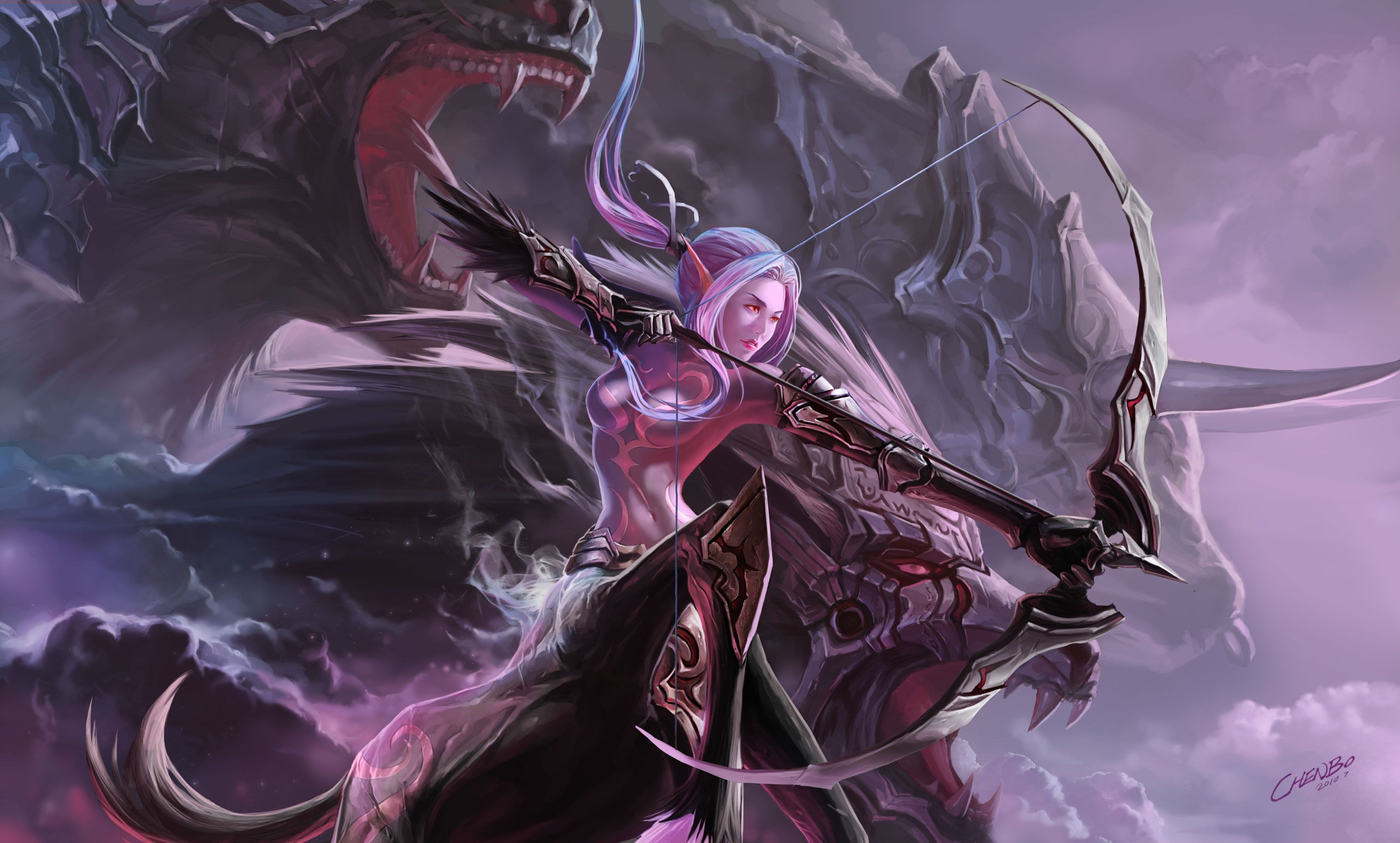 Beastmaster Hunter Warcraft Fantasy Art Women Warcraft Art Female Warrior Art
