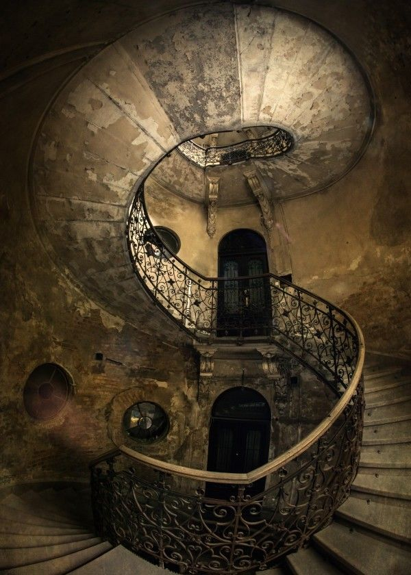 'Old ruined spiral staircase' Poster Print by Jaro