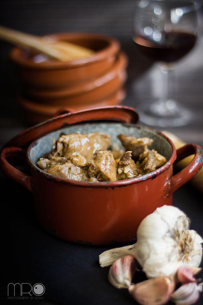 Cocinar Conejo Al Ajillo | Cocinando Espero Conejo Al Ajillo Un Buen Trabajo En Cadena