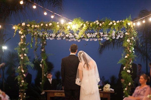 Decoracao Do Altar Com Luzes Luzinhas Wedding Casamento