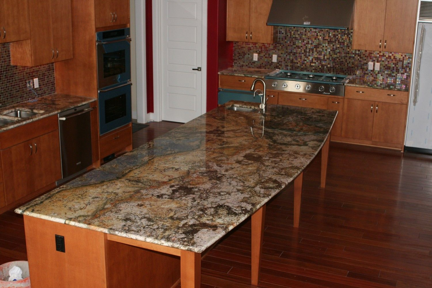 Granite Tops For Kitchen Wood Granite Countertops