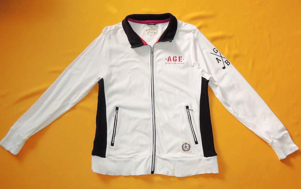 2740b706348 Kensho Abe Sports Jacket Vintage 90s Windbreaker Signature Cotton ...