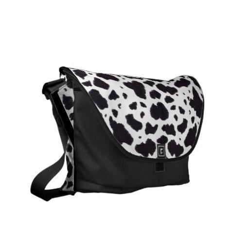 Cow Fur Courier Bag
