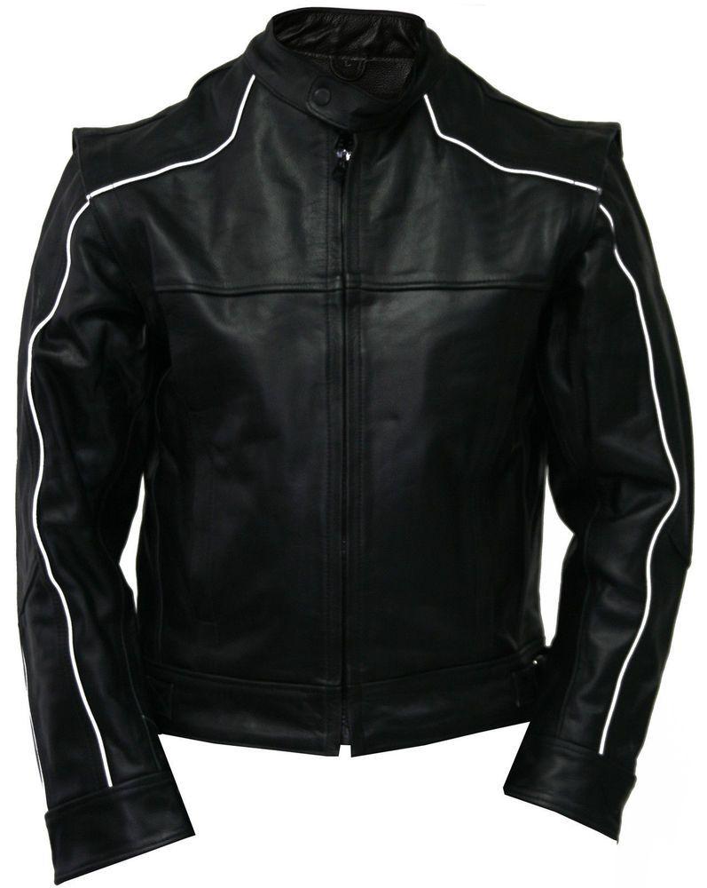 Mens Leather Biker Jacket Brand New Leather Bomber Jacket Coat